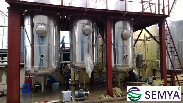 乳酸钙三效降膜蒸发器