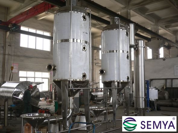 工业糖浆蒸发浓缩 双效外循环蒸发器2000L每小时